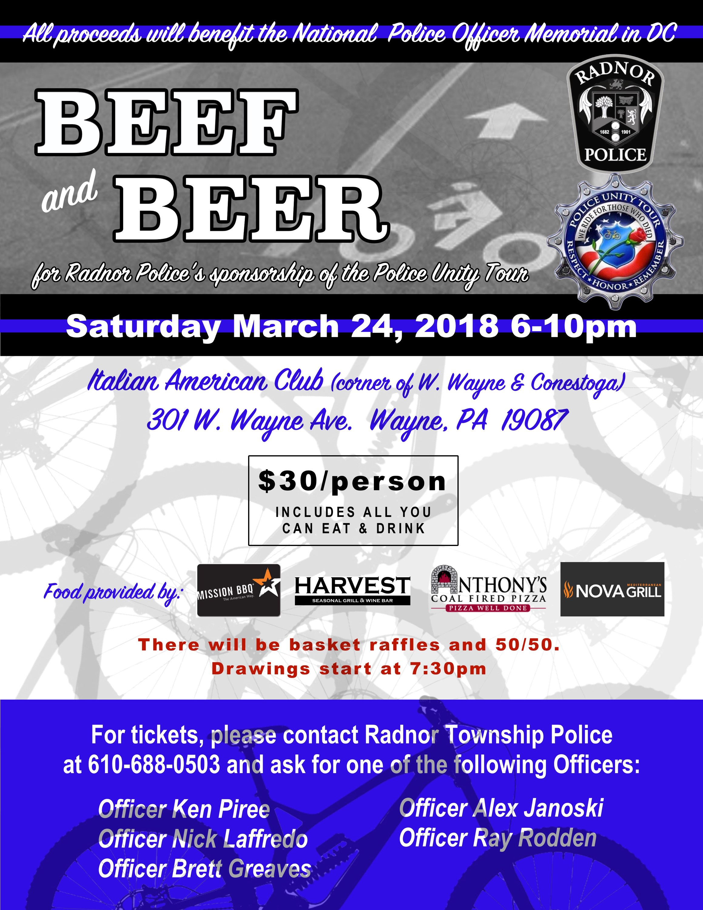 Police Unity Tour Chapter  Raffle